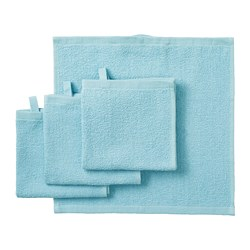 KORNAN - Washcloth, light blue