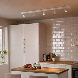 BÄVE - Trek plafon LED, 5 tempat lampu, putih