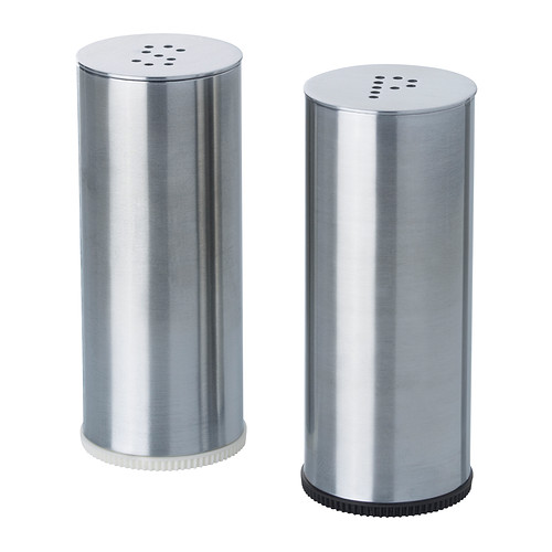 PLATS set 2 shaker garam/lada hitam