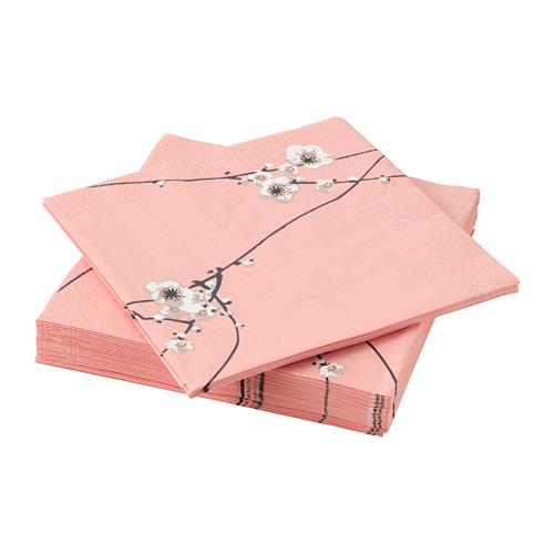 VÅRFINT - paper napkin, flower, 33x33 cm   IKEA Indonesia - PE796911_S4