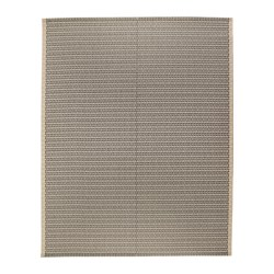 LOBBÄK - Rug flatwoven, in/outdoor, beige