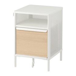 BEKANT - Storage unit on legs, mesh white