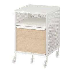 BEKANT - Storage unit on castors, mesh white