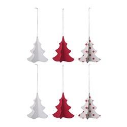 VINTERFEST - Dekorasi gantung, pohon Natal/merah/putih