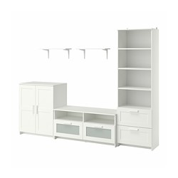 BRIMNES/BURHULT - TV storage combination, white