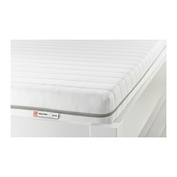 MALFORS - Foam mattress, firm/white