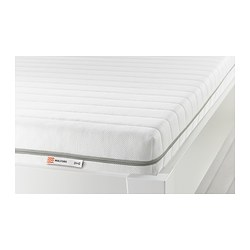 MALFORS - Foam mattress, medium firm/white