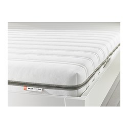 MALVIK - Foam mattress, medium firm/white