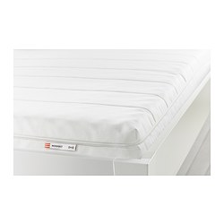 MOSHULT - Foam mattress, firm/white