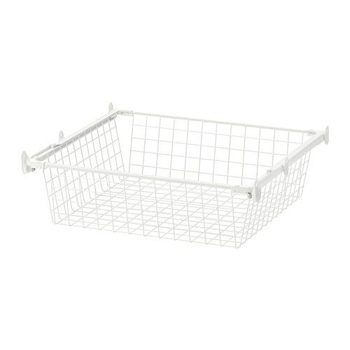 HJÄLPA - keranjang kawat dgn rel tarik, putih, 60x55 cm | IKEA Indonesia - PE702081_S4