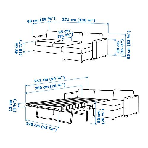 VIMLE sofa tempat tidur 3 dudukan