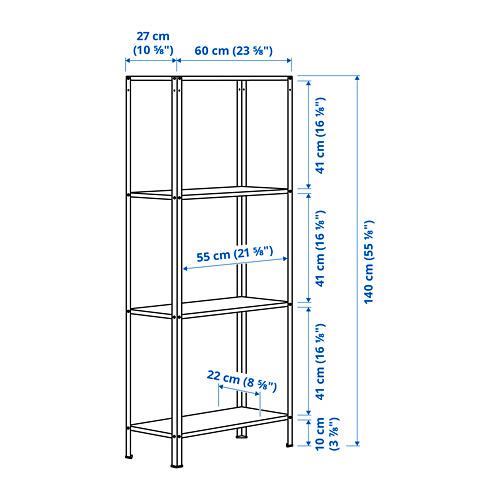 HYLLIS - unit rak , dalam/luar ruang, 60x27x140 cm | IKEA Indonesia - PE797008_S4