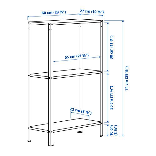 HYLLIS - unit rak , dalam/luar ruang, 60x27x74 cm | IKEA Indonesia - PE797007_S4