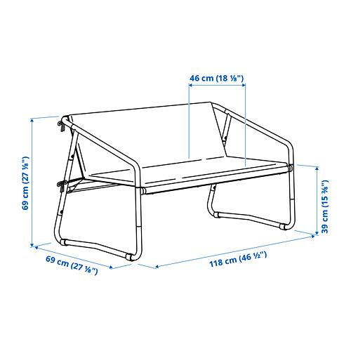 INGMARSÖ sofa 2 dudukan, dalam/luar ruang
