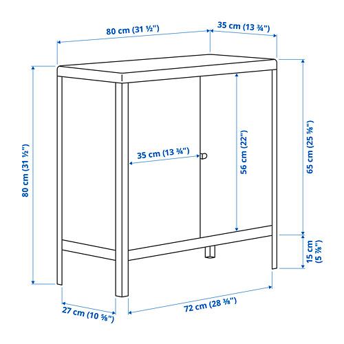 KOLBJÖRN - kabinet dalam/luar ruang, krem, 80x81 cm   IKEA Indonesia - PE797028_S4