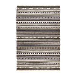 KATTRUP - Karpet, anyaman datar, buatan tangan abu-abu