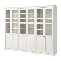 LIATORP - Kombinasi penyimpanan dengan pintu, putih