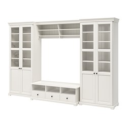 LIATORP - TV storage combination, white