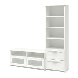 BRIMNES - TV storage combination, white