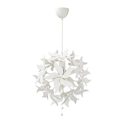 RAMSELE - Pendant lamp, flower/white
