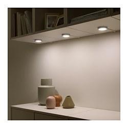 VAXMYRA - Lampu sorot LED, warna aluminium