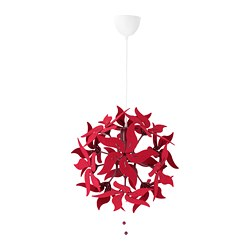 RAMSELE - Pendant lamp, flower/dark red
