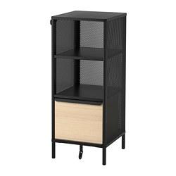 BEKANT - Storage unit on legs, mesh black
