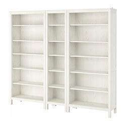 HEMNES - Rak buku, warna putih
