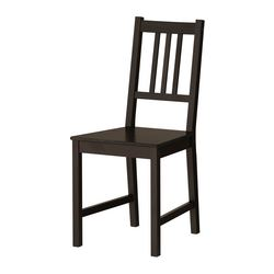 STEFAN - Chair, brown-black