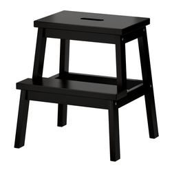 BEKVÄM - Step stool, black