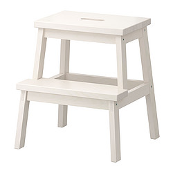 BEKVÄM - Step stool, white
