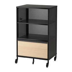 BEKANT - Storage unit on castors, mesh black