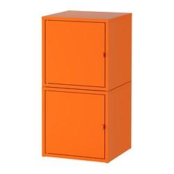LIXHULT - Kombinasi penyimpanan, oranye/oranye