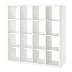 KALLAX - Unit rak, putih, 147x147 cm