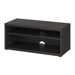 MOSJÖ - TV bench, black-brown