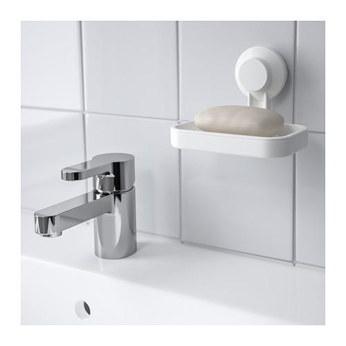 TISKEN tempat sabun dengan plastik hisap