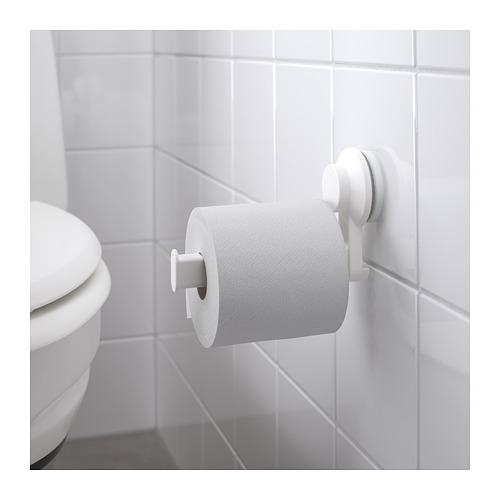 TISKEN tempat tisu toilet dg plastik hisap