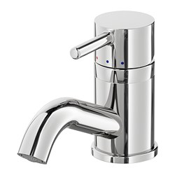 PILKÅN - Wash-basin mixer tap with strainer, chrome-plated