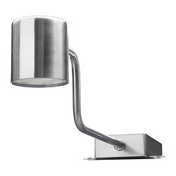 URSHULT - LED cabinet lighting, nickel-plated