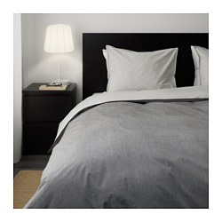 BLÅVINDA - Quilt cover and 4 pillowcases, grey