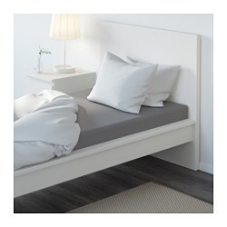 ULLVIDE - Fitted sheet, grey