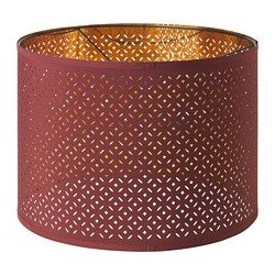 NYMÖ - Lamp shade, dark red/brass-colour