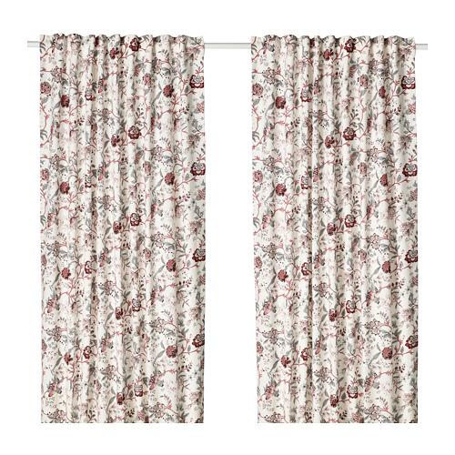 SPRÄNGÖRT room darkening curtains, 1 pair