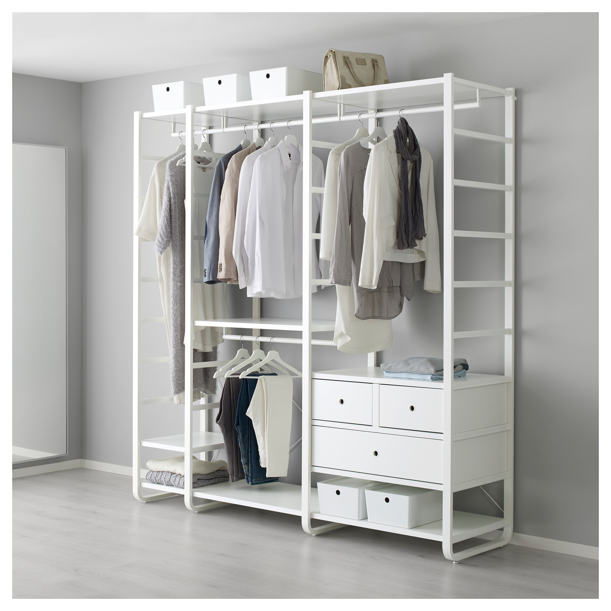 Cabina Armadio Algot Ikea.Elvarli 3 Sections White Ikea Indonesia