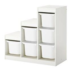 TROFAST - Kombinasi penyimpanan dgn kotak, putih