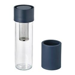 EFTERSTRÄVA - EFTERSTRÄVA, travel mug, kaca bening/silikon, 0.5 l