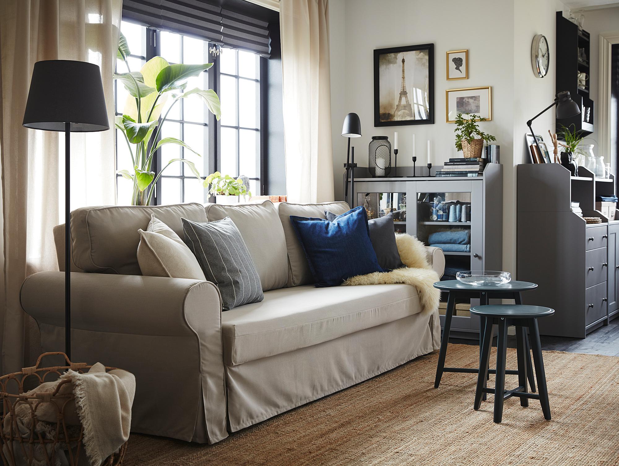 VRETSTORP 3 seat sofa bed, Totebo light beige   IKEA Indonesia