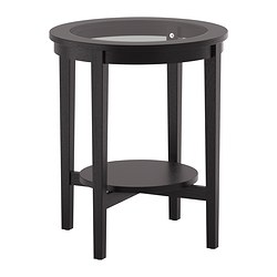 MALMSTA - Side table, black-brown