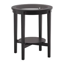 MALMSTA - Meja samping, hitam-cokelat