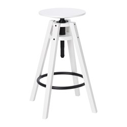 BENGTERIK - Bar stool, white